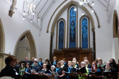The Choir Performs in the Chapel at Bishop Grosseteste