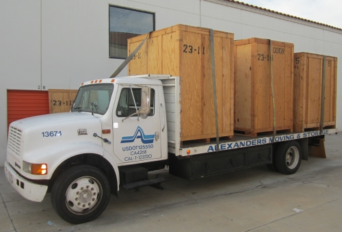 Receiving Our Stuff from Storage in California