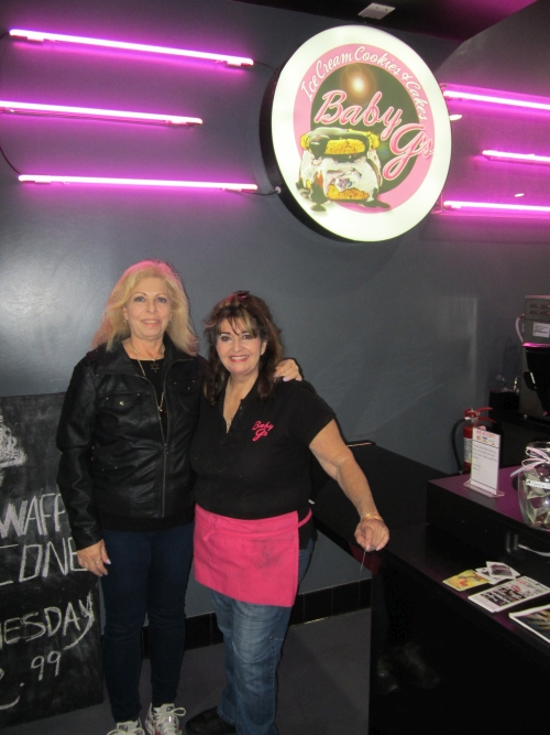 Maxine and Georgette at Baby G's